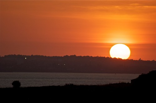 Sunset over the Mersey
