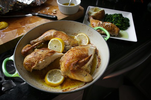 flat roasted chicken