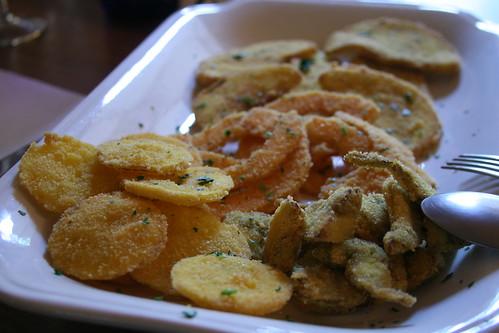 Il Talucco, fritta di verdure (limone, zucca, carcifi, melanzane)