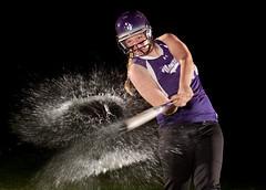 SPLASH Hit! (griegophoto) Tags: water splash manzanohssoftballsoftball highschoolsoftballsportsportraitscanonflashwateranthonyagriegojrmanzanomhssoftball