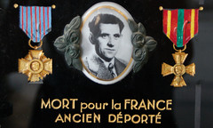 Ceramic photograph of a man who was deported from France by the Nazis (Monceau) Tags: grave plaque mortpourlafrance ceramicphotograph
