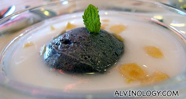 杏仁露+黑糯米雪糕