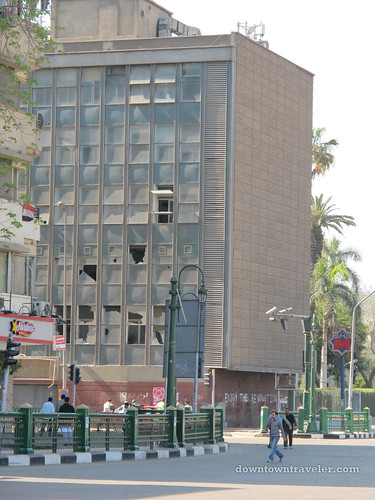 Building opposite Tahrir Square