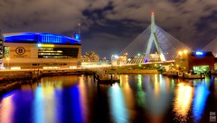 TDGarden (krazykevcool) Tags: reflection boston suspension charlesriver charlestown hdr zakim zakimbridge tdgarden nikonflickraward