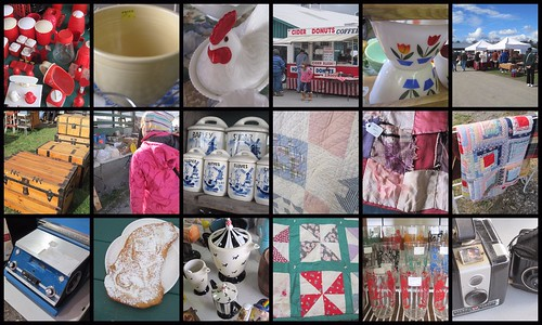 collage of our trip to the Washington County Flea Market and Antique Sale