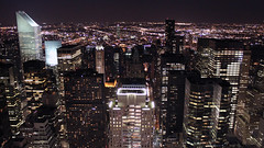 0215 - USA, New York, Night City View (Barry Mangham) Tags: city nyc newyorkcity usa newyork building night america skyscraper buildings dark lights cityscape skyscrapers manhattan aerial rockefeller cityview eos500d flickr10 canoneos500d