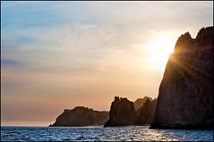Cliffs (Bosquet) Tags: ocean sea sky seascape water landscape mexico cabo nikon waves pacific horizon nik baja seaofcortez bcs opensea d700 nikond700 sharpenerpro