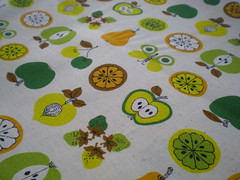 Nemophila by Oharayaseni Pears and Apples Japanese fabric