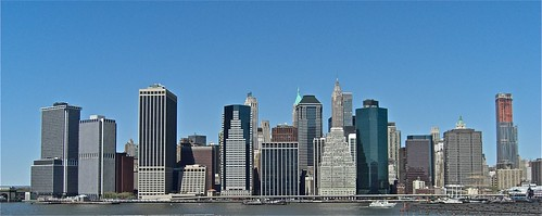 View of Manhatten Island from Brooklyn Heights
