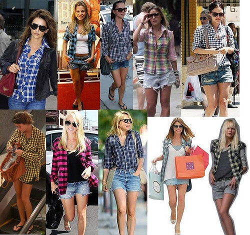 modelos de camisas xadrez femininas