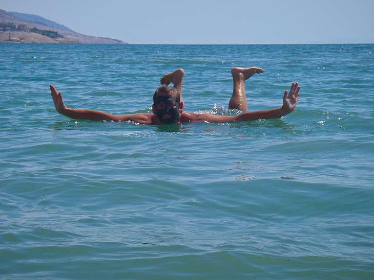 effortless lounging in the dead sea of jordan