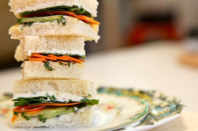 Green Goddess Tea Sandwiches