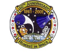 ALAN SHEPARD - FREEDOM 7 / PATCH 40 ANS