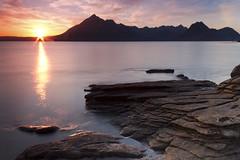 Sunset at Elgol, Cuillin Hills (Alan Wilson.) Tags: sunset sea sun mountains skye water night scotland hills isle cuillin elgol