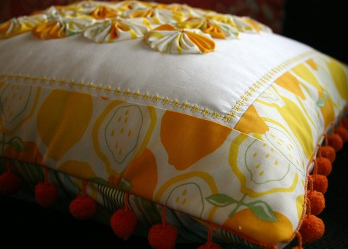 Lemon Drop Pillow - side B