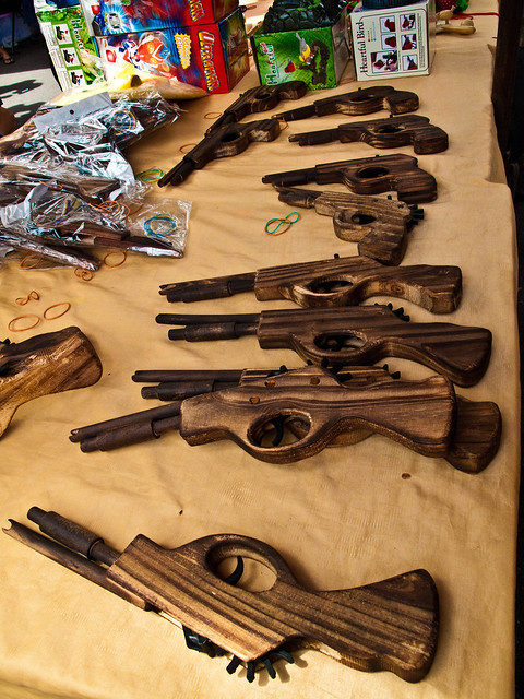 IMG_0627 Wooden pistols, flea market , Penang