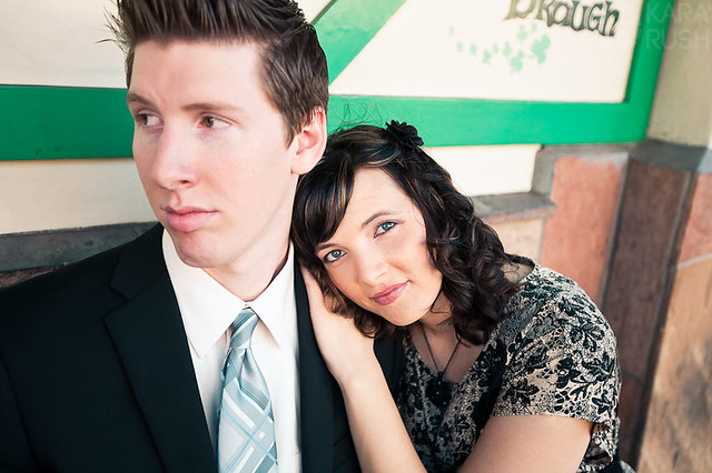 old towne orange engagement pictures