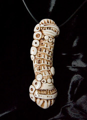 city bone 2 (SelenaAnne) Tags: ivory polymerclay fimo bead sculpey bone pendant cernit polymer focal fauxivory