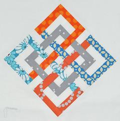 [3 x 6] Bee Quilt Block (TheParfaitCafe) Tags: 6 3 quilt x bee block