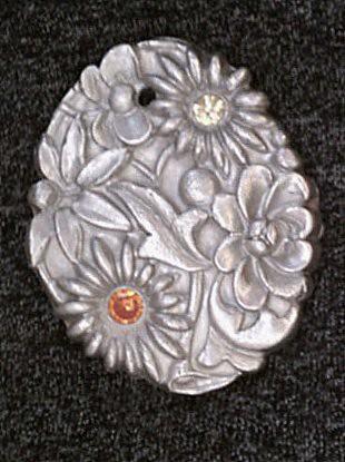 PMC Floral Pendant