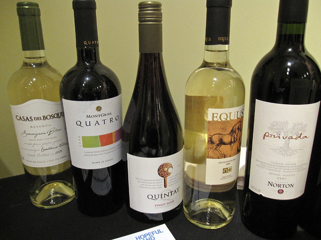 Silent auction wines