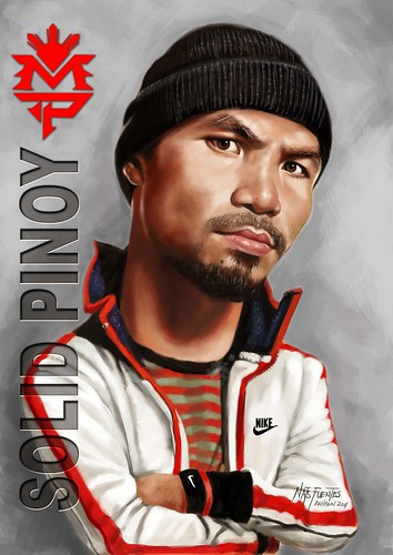 Digital painting - Caricature - Manny Pacquiao