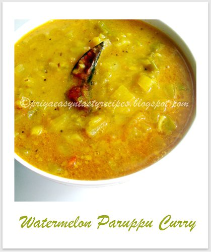 Watermelon Paruppu Curry