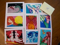 swap to Tara in TX 060811 (misty boston) Tags: wings fairy swap mermaid bookmark fae fairie swapbot