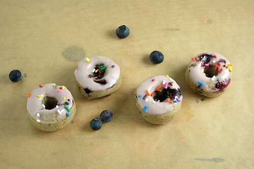 Blueberry Pomegranate Donuts