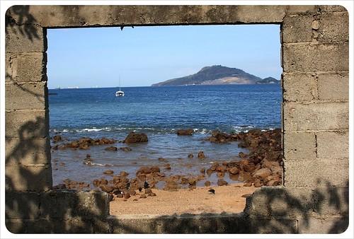 Framed sea view taboga island