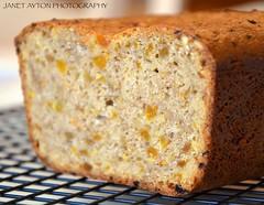 Lake Agnes Tea Bread (Janet Ayton) Tags: food orange canada closeup bread nationalpark walnuts alberta lakelouise apricots lakeagnesteahouse ©allrightsreserved cans2s lakeagnesteabread