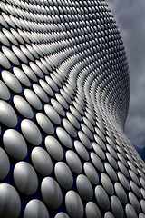 Circles in the Sky (PeteZab) Tags: uk england sky cloud abstract building architecture modern circle birmingham selfridges disc canoneos50d petezab peterzabulis sigma1770f284dcmacroos
