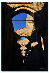 Perspectives of Light and Shadow - Prospettive di Luce ed Ombra - San Galgano (G.hostbuster (Gigi)) Tags: blue light shadow sky abbey blu ombra perspectives cielo tuscany toscana luce ghostbuster abbazia sangalgano fiatlux prospettive gigi49