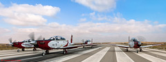 "IAF Aerobatic Team, T-6A Texan II ""Efrony"" (xnir) Tags: panorama photography israel team photographer force aircraft aviation air company pilatus ii zebra beechcraft raytheon runway prop texan t6 aerobatic nir texanii  iaf pc9 benyosef  xnir  efrony  photoxnirgmailcom"