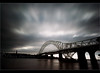 Dark Days..... (Digital Diary........) Tags: longexposure bridge clouds dark movement mood moody darkness impact merseyside widnes ndfilter runcornbridge weldingglass