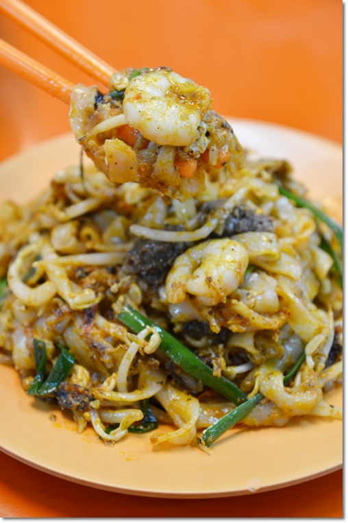 Char Kuey Teow with Prawns, Cockles