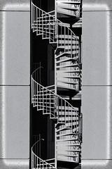 stairs (unukorno) Tags: sassnitz balticsea hotel stairs staircase windingstairs abstrakt blackwhite monochrome symmetry