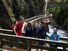 Sigmund Thun Gorge, Kaprun (Roger Hanuk) Tags: groupofpeople austria boardwalk family gorge kaprun photographer sigmundthungorge walkway waterfall salzburg at