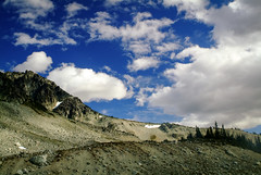 Fujicolor Cotton Clouds Above the Mountains Behind Blackcomb Lake (Paul T. Marsh/PositivePaul) Tags: paulmarshphotography paultmarsh manualmetering color jpg nature mountains 2016 britishcolumbia whistler fujis3pro manualfocus canada nikonlens lightroom5 vacation wwwpaulmphotographycom
