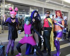 New York Comic Con 2016 - Teen Titans (Rich.S.) Tags: new york comic con nycc 2016 nyc convention cosplay teen titans dc comics beast boy starfire raven robin