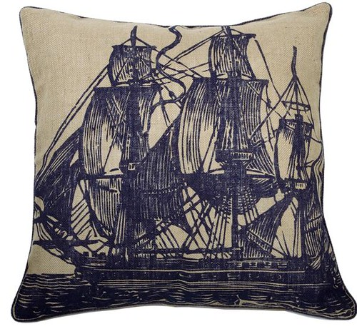 Handmade Jute Ship pillow