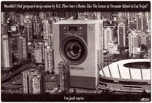 BC Place mega-casino - Cartoon by Olson