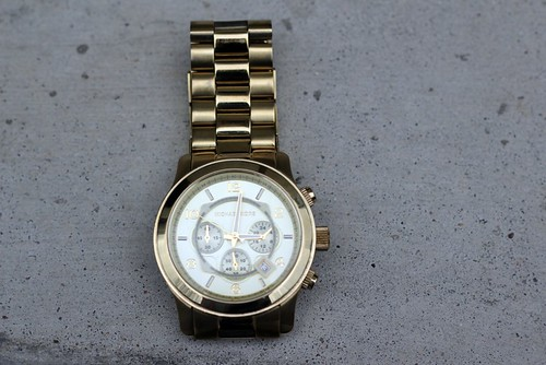 watch: thrifted Michael Kors