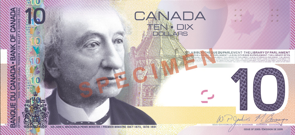 Upgraded <i>Canadian Journey</i> $10—front - <a class='flickr-logo' href ='http://www.flickr.com/photos/bankofcanada/5556155188/in/set-72157626202737929'>Flick<span class='flickr-r'>r</span></a>