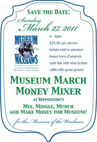 Museum March Money Mixer flyer