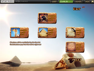 free Fortune of the Pharaohs slot mini symbols