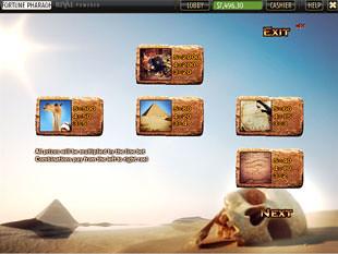 free Fortune of the Pharaohs slot mini symbols