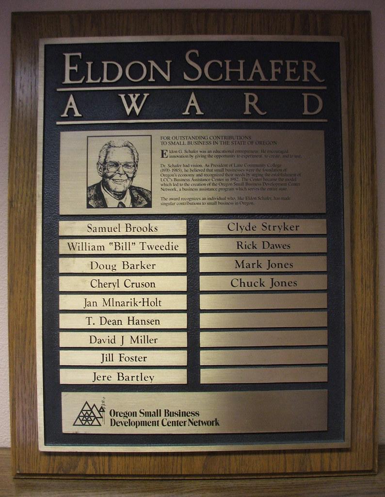 Eldon Schafer Award