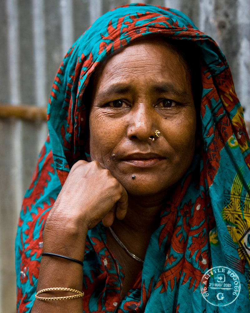 A woman in the slums of Sylhet, Bangladesh.
