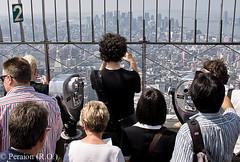 Spectators on the Empire State Building (Peraion) Tags: mist newyork view manhattan tourists financialdistrict empirestatebuilding lowermanhattan